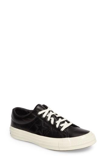 Converse Chuck Taylor All Star One Star Low-top Sneaker In Onyx Black