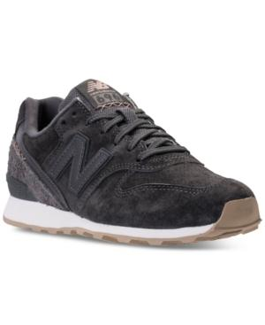 New Balance Women's 696 Suede Casual Sneakers From Finish Line In Grey