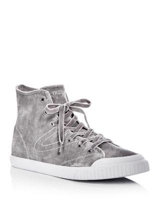 Tretorn Women's Marley Hi4 Velvet High Top Sneakers In Silver