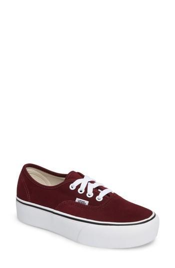 Vans 'authentic' Platform Sneaker In Ochre/ Tawny Olive