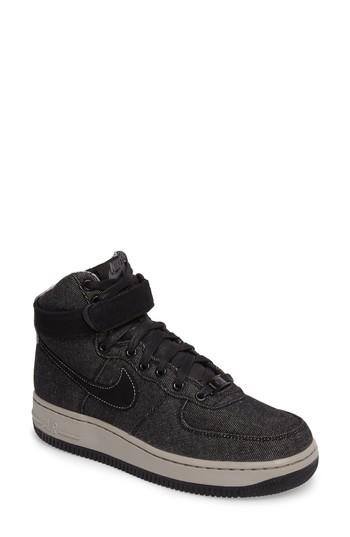 0c3cbdd1e6f1d Nike Air Force 1 High Top Se Sneaker In Black/ Dark Grey/ Cobblestone
