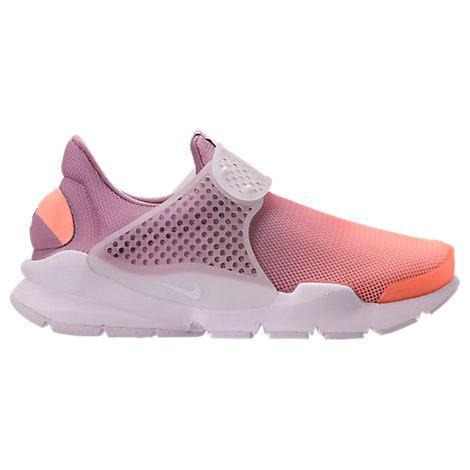 Nike Women's Sock Dart Breathe Casual Shoes, Purple/orange In White/ Orchid/ Glacier Blue