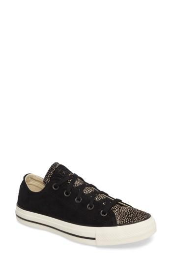 Converse Chuck Taylor All Star Ox Genuine Calf Hair Sneaker In Black