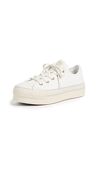63c25e6d9c6 Converse Chuck Taylor® All Star® Platform Leather Ox In White Light Gold