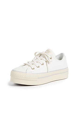Chuck Taylor® All Star® Platform Leather Ox in WhiteLight GoldTurtledove