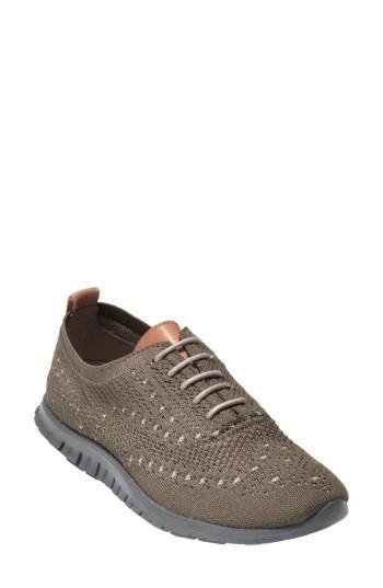 Cole Haan Zer?grand Wingtip Sneaker In Pumice Stone/ Rockridge Fabric