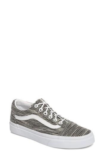 Vans Old Skool Sneaker In Stripes/ True White