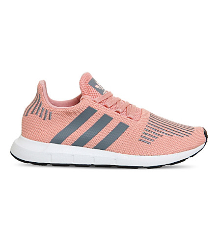 Adidas Originals Adidas Women's Swift Run Casual Sneakers From Finish Line In Trace Pink Grey