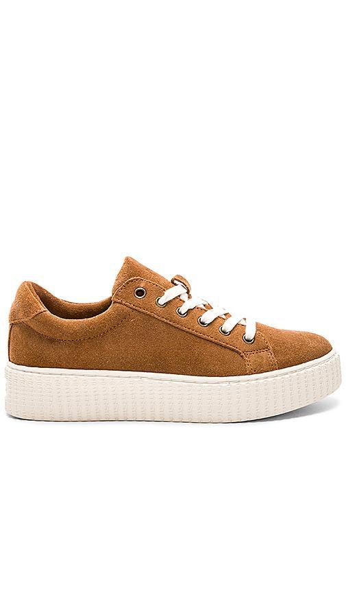 Splendid Ruth Platform Sneaker In Chestnut Suede