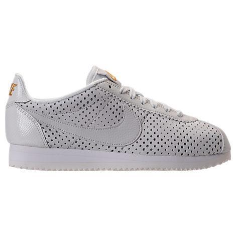 Nike Women's Cortez Classic Se Premium Casual Shoes, White In Summit White/ Summit White