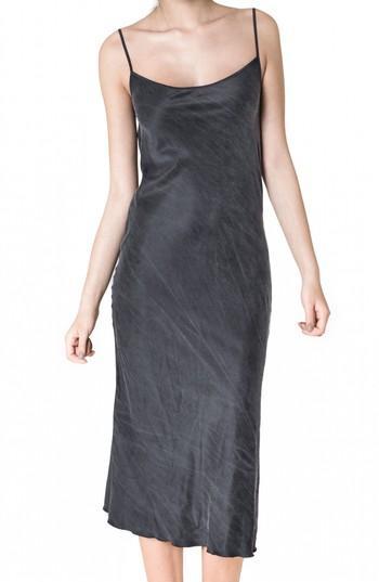 Ragdoll Silk Slipdress In Vintage Black