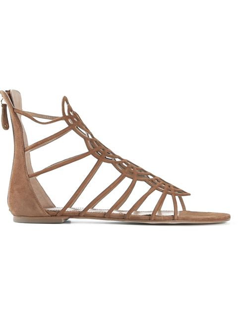 Dsquared2 Strappy Sandals In Camel