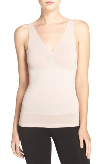 Yummie By Heather Thomson Adella Convertible Smoother Camisole In Mushroom
