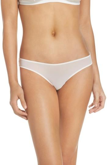Madewell Skin Mesh Thong In White Wash