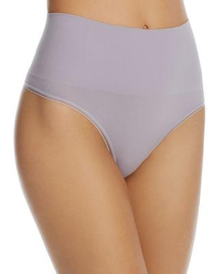Yummie By Heather Thomson Ultralight Seamless Shaping Thong In Dapple Grey