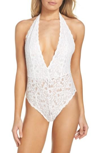 Free People Intimately Fp Avery Lace Bodysuit In White