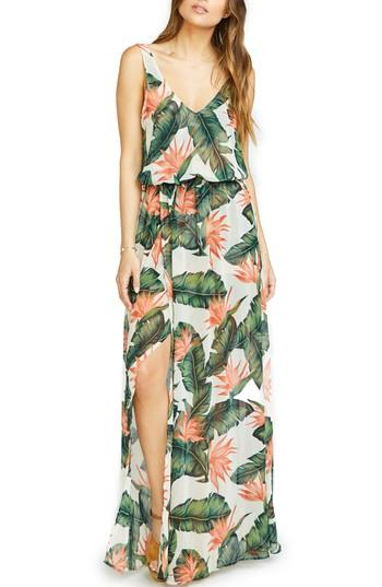 Show Me Your Mumu Kendall Soft V-back A-line Gown In Paradise Found