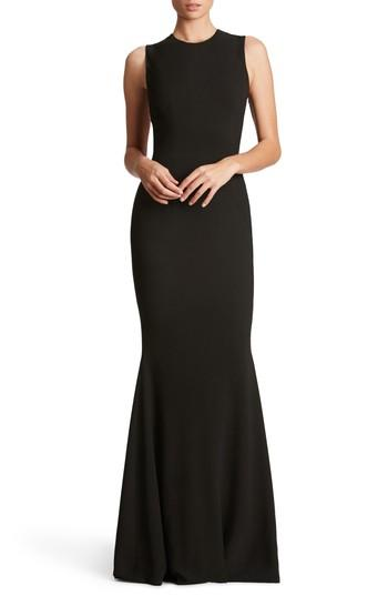 Dress The Population Eve Crepe Mermaid Gown In Black