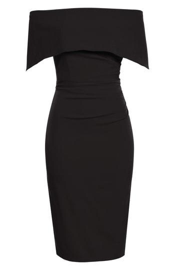 Vince Camuto Popover Dress In Black