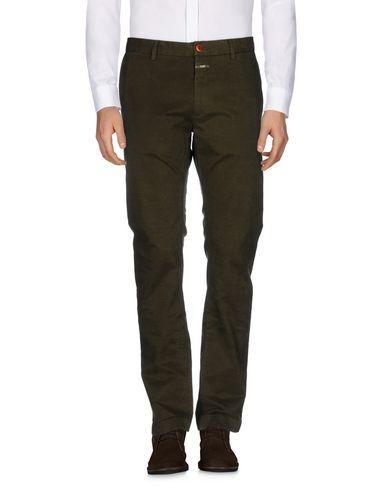 Closed Casual Pants In Military Green
