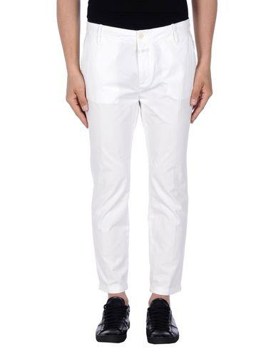 Closed Casual Pants In White