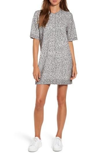 Kendall + Kylie Asymmetrical T-shirt Dress In Medium Heather Grey