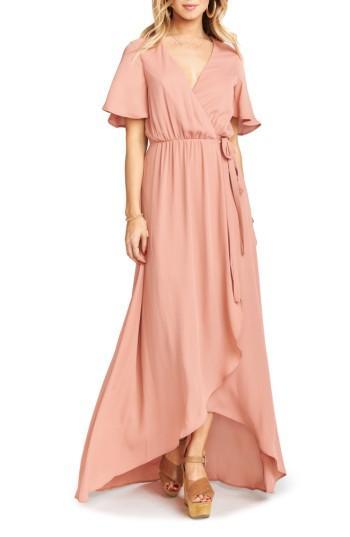 Show Me Your Mumu Sophia Wrap Dress In Rustic Mauve