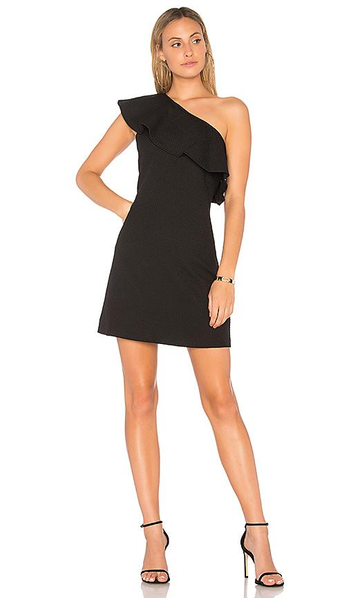Cupcakes And Cashmere Ruffle One-shoulder Dress In Black