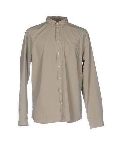 Closed Solid Color Shirt In Grey