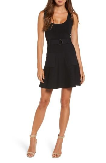 Kendall + Kylie Sleeveless Fit & Flare Dress In Black