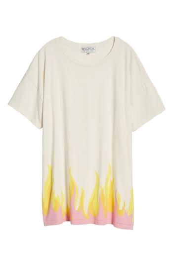 Wildfox Wildfire T-shirt Dress In Vintage Lace