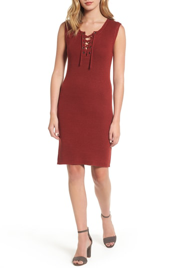 Cupcakes And Cashmere Thora Sheath Dress In Brick
