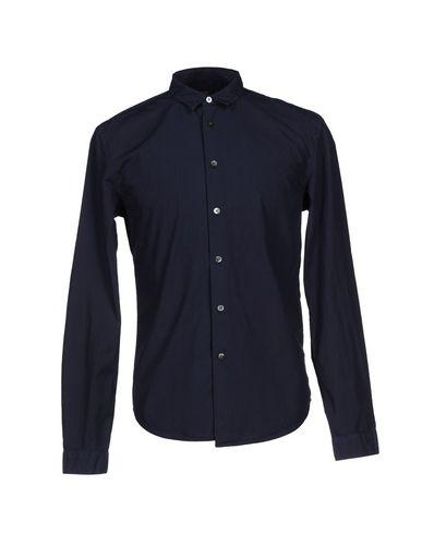 Closed Solid Color Shirt In Dark Blue