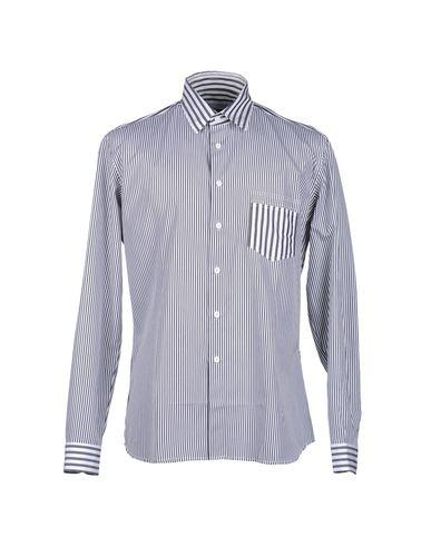 Jonathan Saunders Striped Shirt In Steel Grey