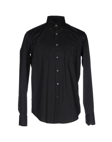 Robert Friedman Striped Shirt In Black