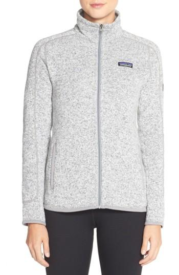 Patagonia 'better Sweater' Jacket In Birch White