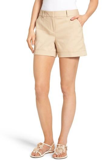 Vince Camuto Cuffed Shorts In Tiramisu