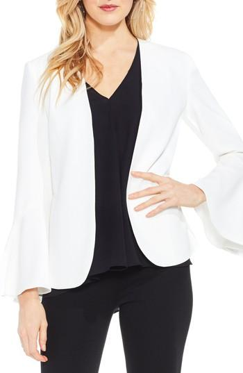 Vince Camuto Bell Sleeve Blazer In New Ivory