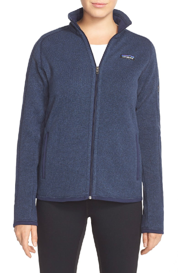 Patagonia 'better Sweater' Zip Pullover In Classic Navy