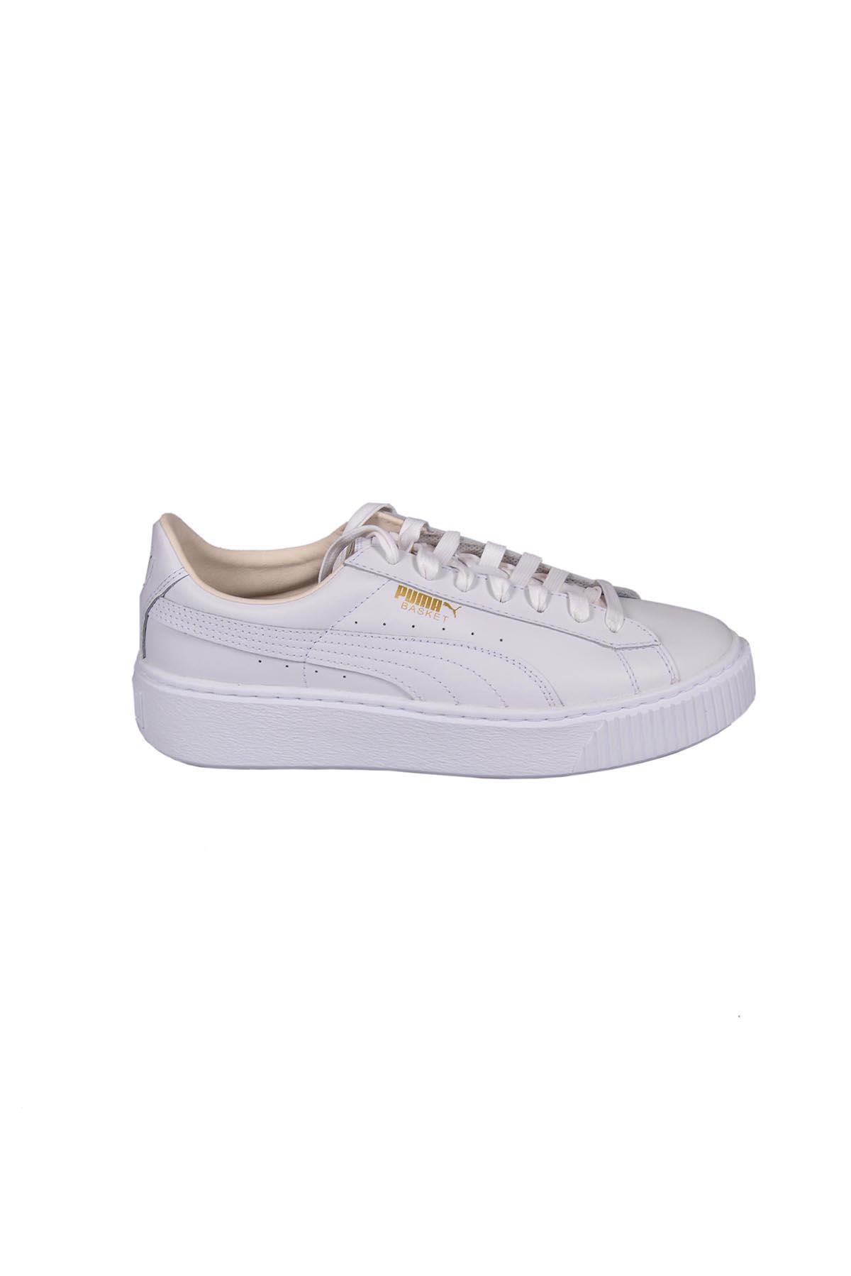 Puma Basket Platform Core Sneakers In White