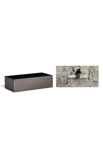 Kendra Scott Rectangle Filigree Box - White In Labradorite