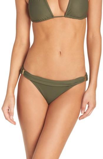Vix Swimwear 'bia' Bikini Bottoms In Military