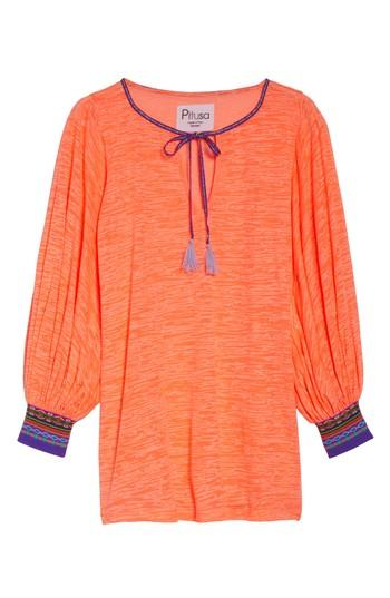 Pitusa Inca Cover-up Dress In Coral