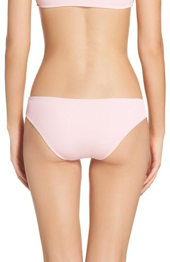Solid & Striped Elle Bikini Bottoms In Petal Rib
