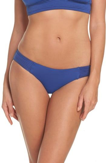 Seafolly Quilted Bikini Bottoms In French Blue