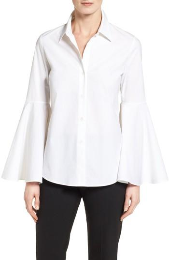 Vince Camuto Bell Sleeve Shirt In Ultra White