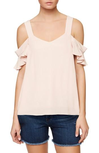 Sanctuary Annie Cold Shoulder Blouse In Cameo Pink
