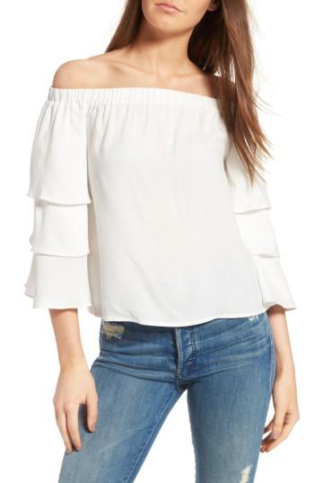 Ella Moss Stella Off-the-shoulder Top In White