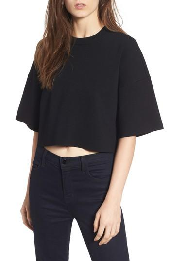 Kendall + Kylie Lace-up Back Top In Black