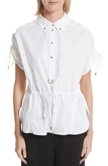 Grey Jason Wu Cotton Poplin Shirt In Star White